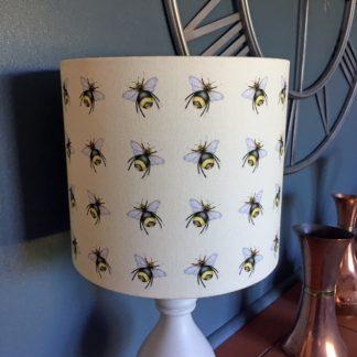 cream bees handmade designer 20cm lamp shade